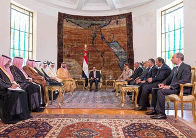 الرئيس عبد الفتاح السيسي وولي ولي العهد السعودي الأمير محمد بن سلمان