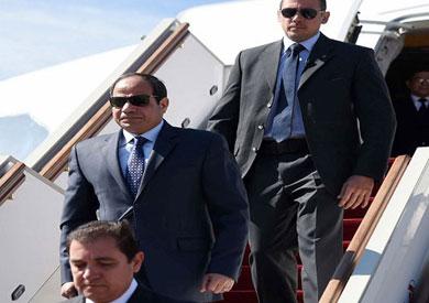 الرئيس السيسي يتوجه إلى باريس