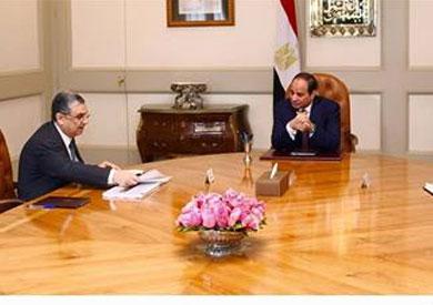 اجتماع الرئيس عبد الفتاح السيسي مع الدكتور محمد شاكر المرقبي وزير الكهرباء والطاقة المتجددة