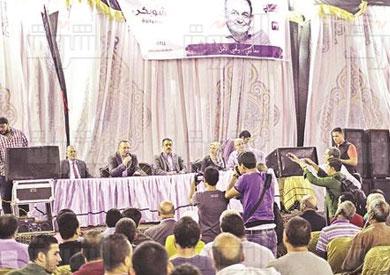 مؤتمر انتخابي للمرشح عمرو الشوبكى دائرة الدقى والعجوزة تصوير احمد عبد اللطيف
