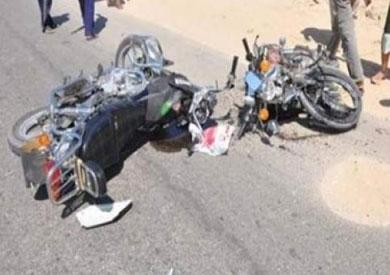 حادث تصادم دراجتين بخاريتين