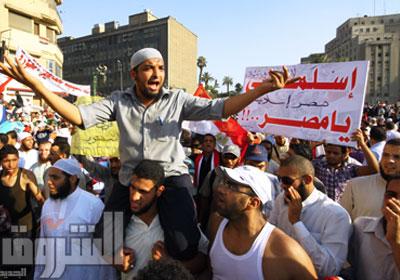 السلفيون بداو الحشد لاسقاط مشروع الدستور - تصوير : محمد الميمونى