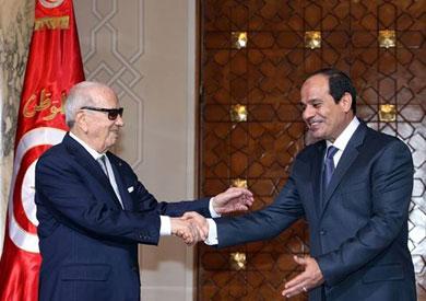 الرئيس التونسي الباجي قايد السبسي والرئيس عبد الفتاح السيسي