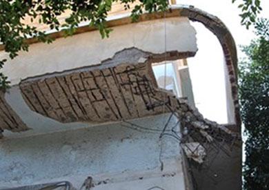 مبنى هيئة التأمين الصحى بأسيوط مهدد بالانهيار