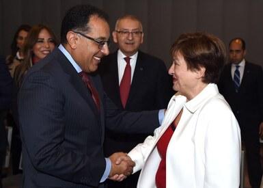 مدبولي يلتقي بالمديرة الجديدة لصندوق النقد الدولي