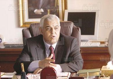 محمد نصر الدين علام وزير الرى و المصادر المائية - تصوير محمد حسن