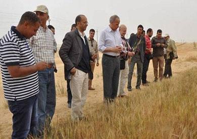رئيس شركة الريف المصري أثناء تفقد ال 1.5مليون فدان