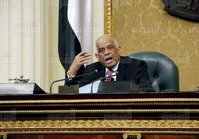 الدكتور علي عبد العال رئيس مجلس النواب -  تصوير لبنى طارق