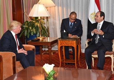 «السيسي» يشيد بـ«ترامب» ويتوقع تعزيز العلاقات الثنائية