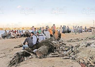 رشيد حادثة غرق المهاجرين - تصوير: اميرة مرتضى