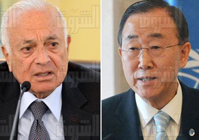 «العربي» يبحث مع «كي مون» الأوضاع في المنطقة العربية