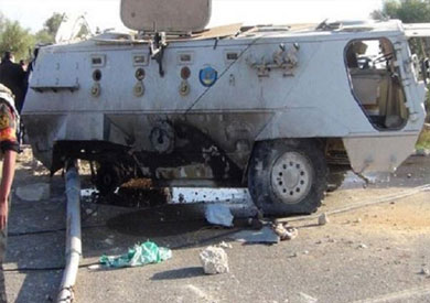 استشهاد 3 جنود وإصابة 6 مجندين في انفجار عبوة ناسفة بمدرعة وسط سيناء