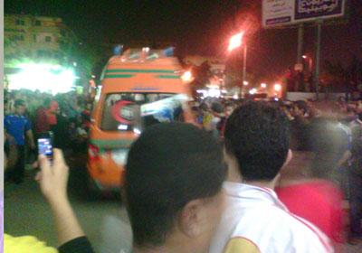 اعتصام طلاب الازهر امام المدينة الجامعية