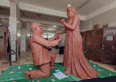 تمثال لأصحاب متلازمة داون