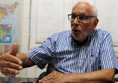 الناشط السياسي جورج إسحاق - تصوير: إبراهيم عزت