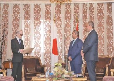 وزير خارجية اليابان يكرم العربي
