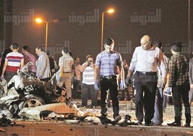 انفجار سيارة مفخخه بجوار منزل مساعد النائب العام بالتجمع الخامس - تصوير: لبنى طارق