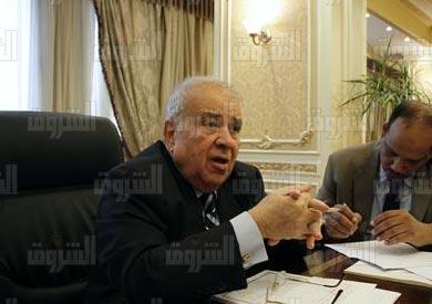 المستشار مجدي العجاتي، وزير الدولة للشئون القانونية والنيابية - تصوير: لبنى طارق
