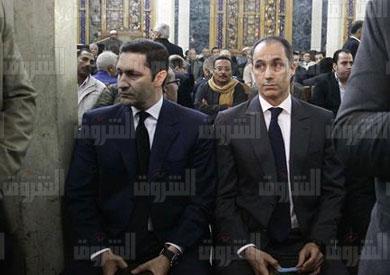 علاء وجمال مبارك - تصوير: احمد عبد الفتاح
