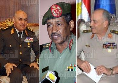 «صدقي» و«حجازي» يلتقيان رئيس أركان الجيش لبحث التعاون العسكري