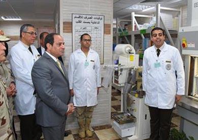 السيسى يفتتح 30 مشروع تطوير فى المجمع الطبى العسكرى بكوبرى القبة