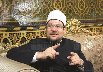محمد مختار جمعة، وزير الاوقاف - تصوير: لبني طارق