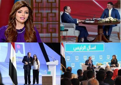 أبرز الوجوه الإعلامية التي حاورت الرئيس في مؤتمر الشباب