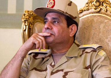 الفريق عبد الفتاح السيسي وزير الدفاع والانتاج الحربي