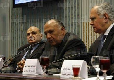 لجنة العلاقات الخارجية بحضور وزير الخارجية سامح شكرى- تصوير- لبنى طارق