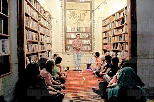 مصطفي جاد - تامل روحي - مكتبة البلد - تصوير: هبة الخولي