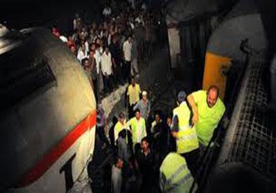صور حادث قطار البدرشين الثلاثاء 15/1/2013