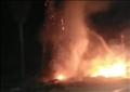 حريق في نخيل بجوار مدرسة بالشرقية
