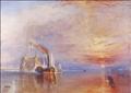 لوحة سفينة الحرب تمارير للفنان وليام تيرنر