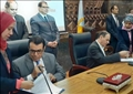 توقيع وزير القوى العاملة اتفاقية عمل جماعي