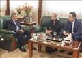 رئيس هيئة قناة السويس و سفيرة النرويج