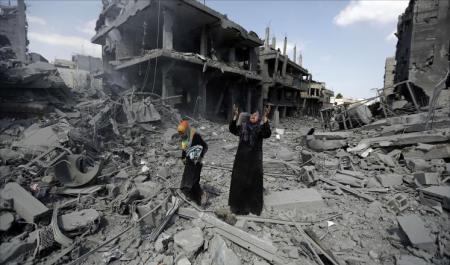 آثار القصف الإسرائيلي على غزة- أرشيفية