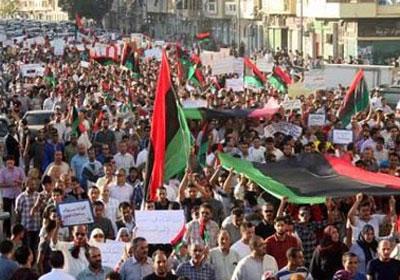 تظاهرة فى ليبيا  - أرشيفية