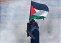 فتاة تحمل العلم الفلسطيني (صورة أرشيفية)