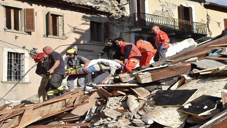 ارتفاع قتلى زلزال إيطاليا لـ267 والمصابين لـ387