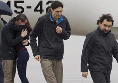 الصحفيين الإسبان الثلاثة المحررين