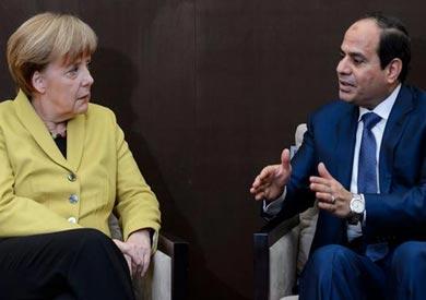 الرئيس عبدالفتاح السيسي والمستشارة الألمانية أنجيلا ميركل