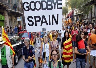 احتجاجات في كتالونيا