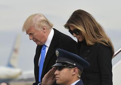 ترامب يصل إلى واشنطن قبل يوم من تنصيبه رئيسا للولايات المتحدة