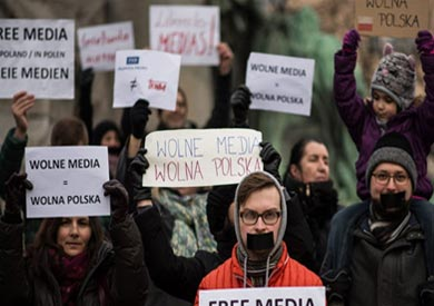 عشرات الآلاف يحتجون على سيطرة الحكومة البولندية على الإعلام<br/> ارشيفية