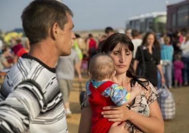 معظم النازحين لم يسجلوا أنفسهم لدى الحكومة الأوكرانية