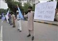 وقفة احتجاجية لمواطنين باكستانيين للمطالبة بالإفراج عن عافية صديقي – صورة أرشيفية
