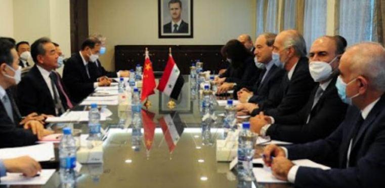 مباحثات سورية صينية تتناول التعاون الثنائي ومشاركة دمشق في مبادرة الحزام والطريق