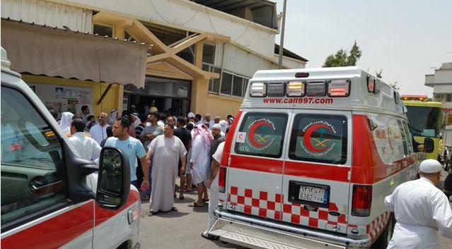 صورة متداولة للحادث على المواقع الإخبارية السعودية