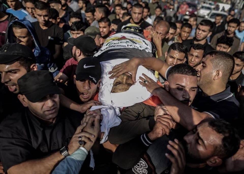 تشييع جثمان بهاء أبو العطا في غزة