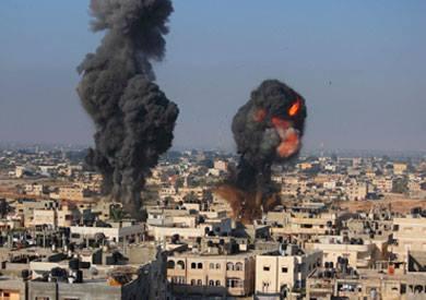 غارة اسرائيلية على غزة